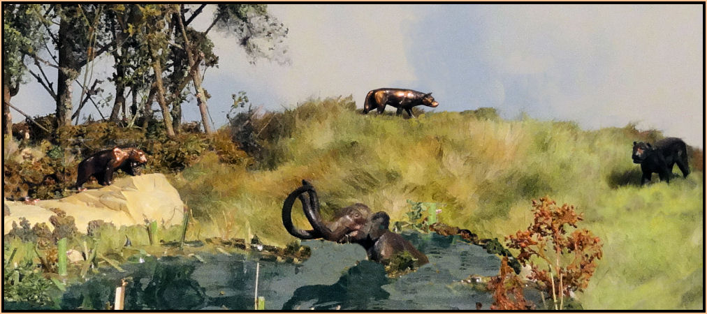 William Otto La Brea Tar pits bronze sculpture
