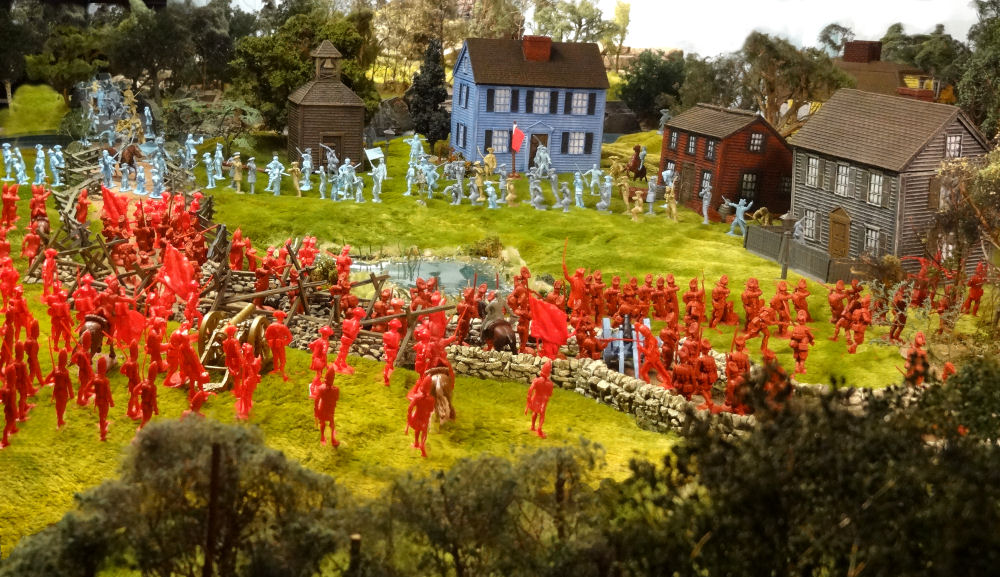 Revolutionary War diorama